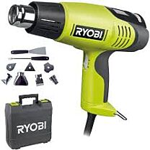 Ryobi 2000 W heteluchtpistool + 4 mondstukken EHG2020LCD